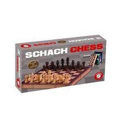 Schach aus Holz in Buchoptik